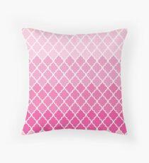 Ombre marokkanischen Rankgitter, Gitterwerk - Pink White Dekokissen