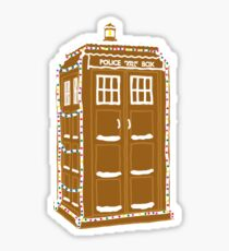 Gingerbread Tardis Sticker