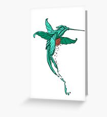 Collibri splash Greeting Card