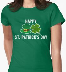 Patrick's Day Funny Happy St. Patrick's Day T-Shirt Women's Fitted T-Shirt
