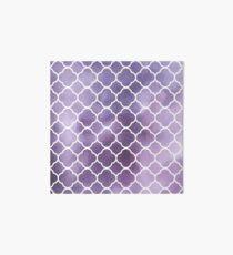 Quatrefoil Shape, Watercolors - Purple White Art Board