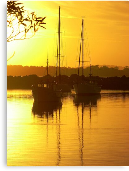 Glorious Golden Boats by Martice