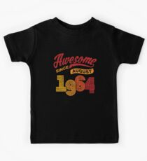 Awesome Since August 1964 Shirt Vintage 54th Birthday Kids Tee