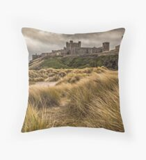 Bamburgh Castle - Northumberland Throw Pillow