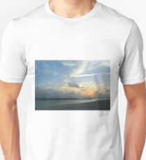 Sunset over the water in Maldives with cloudy sky Unisex T-Shirt
