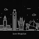 Los Angeles Skyline Minimal Line Art Poster by A Deniz Akerman