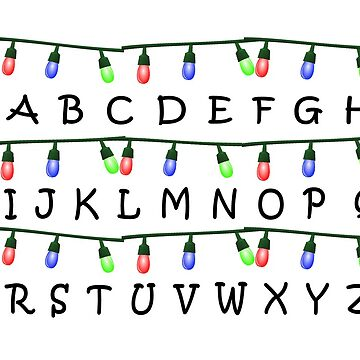 Stranger Things Christmas Lights Alphabet by ShadowOfTheDay