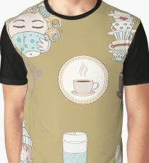 cute tea pattern Graphic T-Shirt