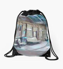 Waiting for a loved one Drawstring Bag
