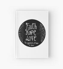 Faith, hope, peace  Hardcover Journal
