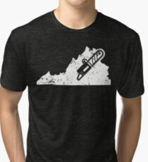 Chainsaw Shirt Virginia Logger T Shirt Logger Tea Shirt Tri-blend T-Shirt