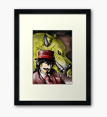 Werewolf and vampire Framed Print