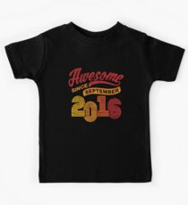 Awesome Since September 2016 Shirt Vintage 2nd Birthday Kids Tee