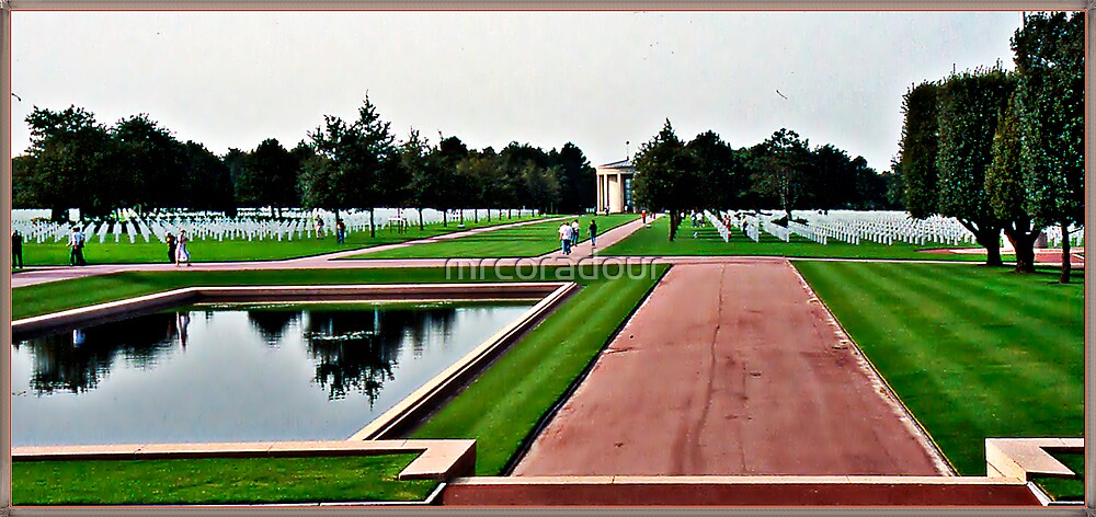 """"""" Some of the American War Graves at Omaha Beach"""" by Malcolm Chant"""