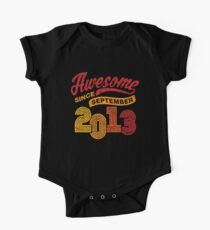 Awesome Since September 2013 Shirt Vintage 5th Birthday One Piece - Short Sleeve
