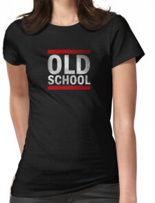 OLD SCHOOL White Womens Fitted T-Shirt