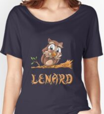 Lenard Owl Women's Relaxed Fit T-Shirt