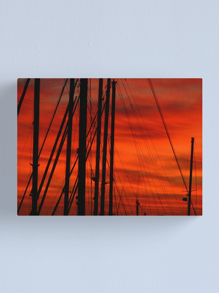 Alternate view of Merah Masts Canvas Print