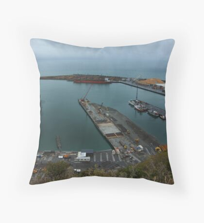 Port Of Napier Throw Pillow