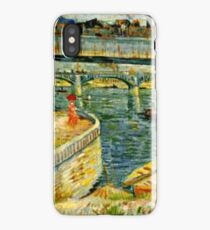 Van Gogh - Bridge across the Seine at Asnieres iPhone Case/Skin