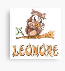 Leonore Owl Metalldruck