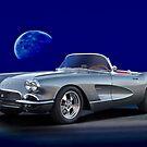 1962 Corvette Roadster 'Blue Moon Rising' by DaveKoontz