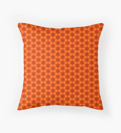 Golden Orange Honeycomb Hexagon Pattern Throw Pillow