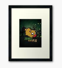 Zombie guinea pig Framed Print