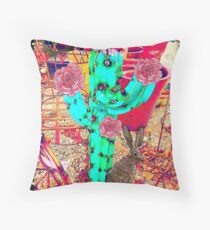 Desert Cactus Love, Jackalope Series  Throw Pillow
