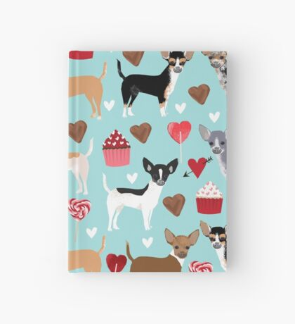 Chihuahua love hearts cupcakes valentines day gift for chiwawa lovers Hardcover Journal