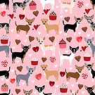Chihuahua love hearts cupcakes valentines day gift for chiwawa lovers by PetFriendly