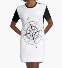 Compass Graphic T-Shirt Dress