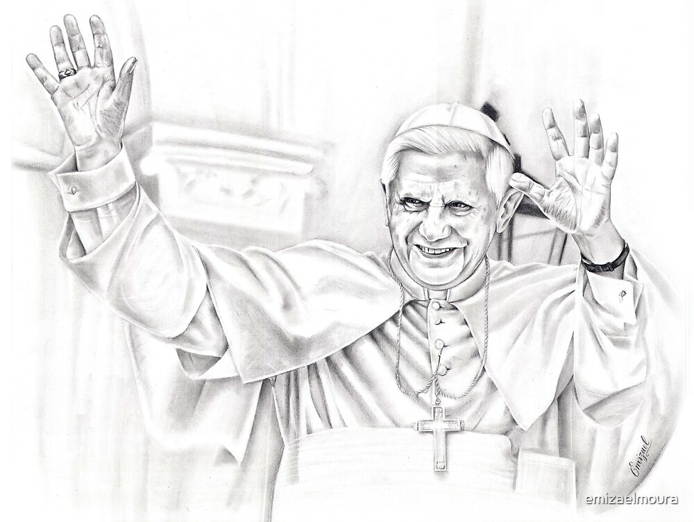 Pope Benedict XVI by emizaelmoura