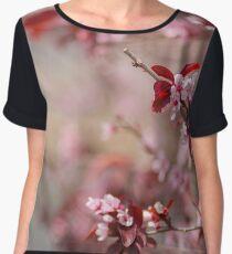 Plum tree flower blossom. Chiffon Top