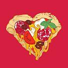 Pizza is my true Valentine by Evgenia Chuvardina
