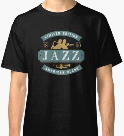 Vintage Jazz Badge Featuring Jazz Musicians Classic T-Shirt