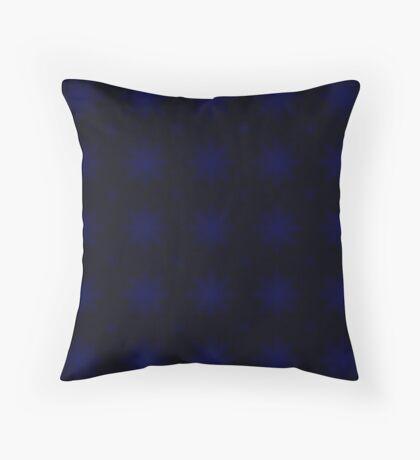 Royal Blue Starburst Abstract Pattern Throw Pillow