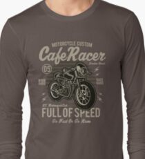 Cafe Racer Motorcycle Custom Vintage Design Long Sleeve T-Shirt