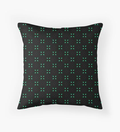Sweet Mint Green Leaf Pattern Throw Pillow