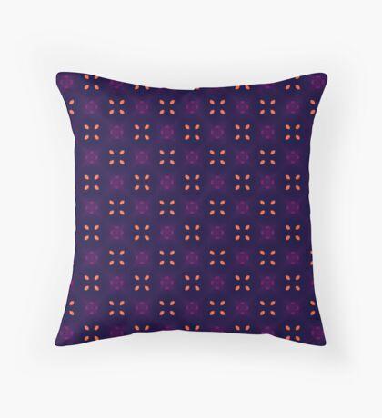Sweet Orange Leaf Pattern Throw Pillow