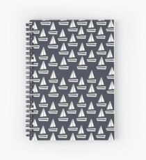 Navy Boat Repeat Spiral Notebook
