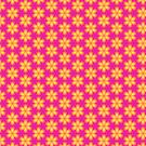 Vibrant Pink and Yellow Floral Abstract Pattern by Shelley Neff