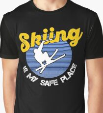 Skiing Is My Safe Place Graphic T-Shirt