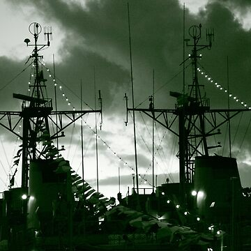 Warships at twilight by gavila