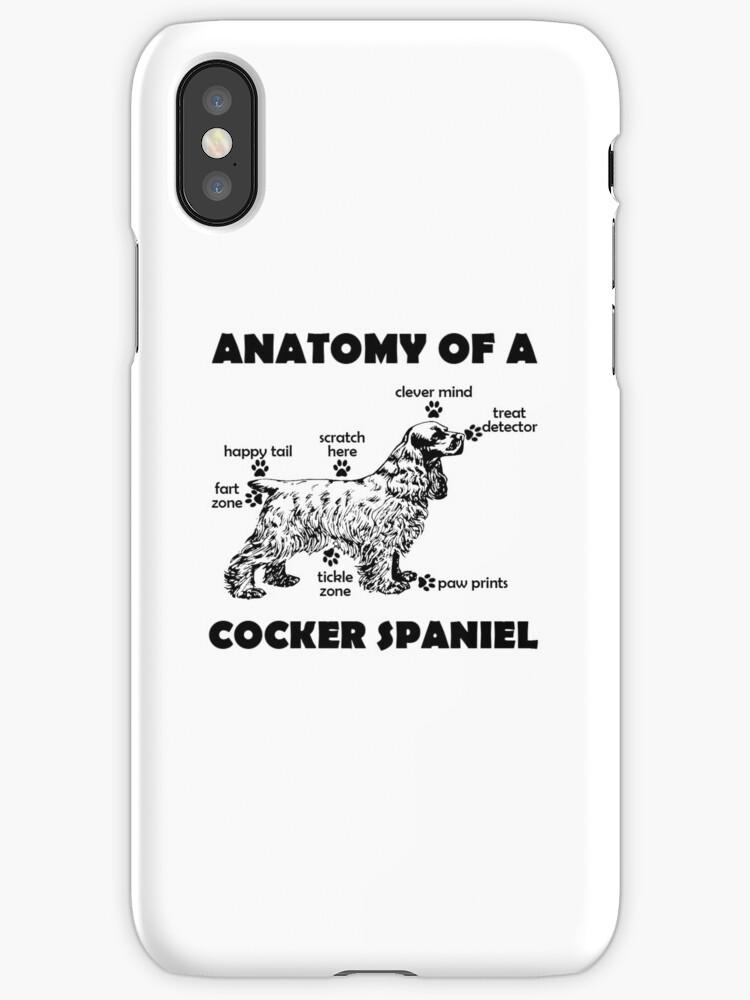 Vinilos y fundas para iPhone «Camiseta divertida de cocker spaniel ...