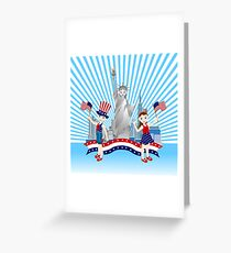 On Independence Day Greeting Card