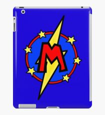 Cute Little SuperHero Geek - Super Letter M iPad Case/Skin