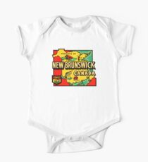 Province of New Brunswick Vintage Travel Decal One Piece - Short Sleeve
