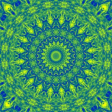 Blue and Green Feeling Mandala by DesignWorlds