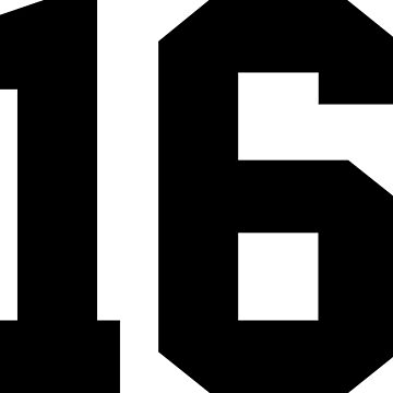 16. Number 16 on shirts and stuff. by Swaygo